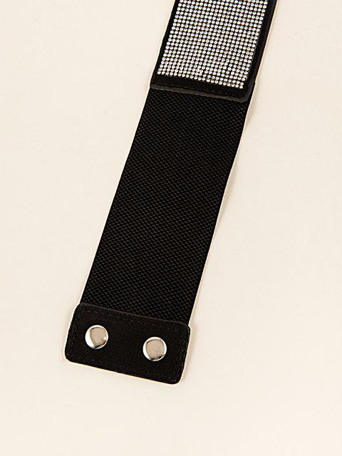 Elastischer Gürtel mit Pailletten - Schwarz  Mobile