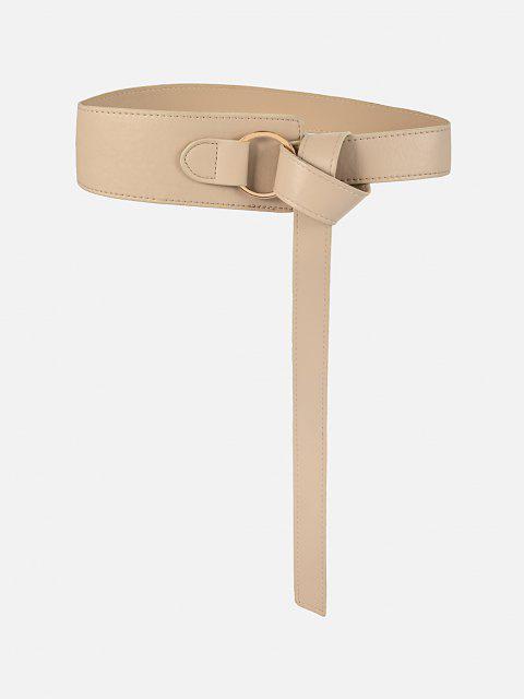 Einfarbiger Asymmetrischer Breiter Gürtel - Antiquität Weiß  Mobile