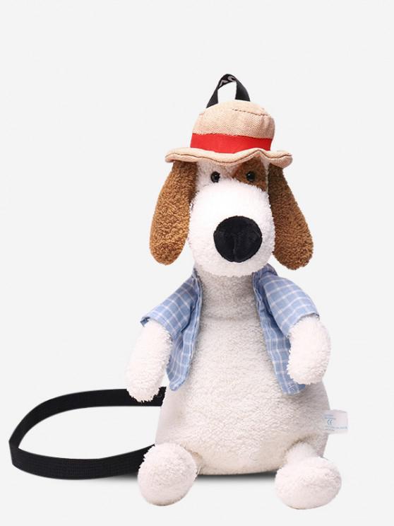 Nette Unscharfe Hund Schlinge Tasche - Milchweiß