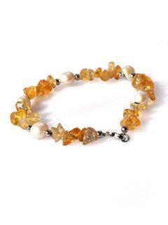 Natural Pearl Irregular Crystal Bracelet - Yellow