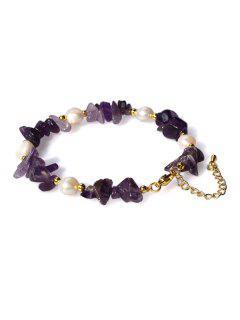 Pearl Irregular Crystal Bracelet - Purple Amethyst