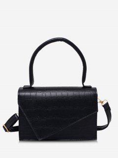 Geometric Cover Rectangle Handbag - Black