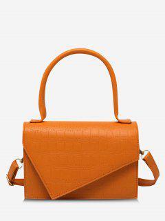 Geometric Cover Rectangle Handbag - Orange