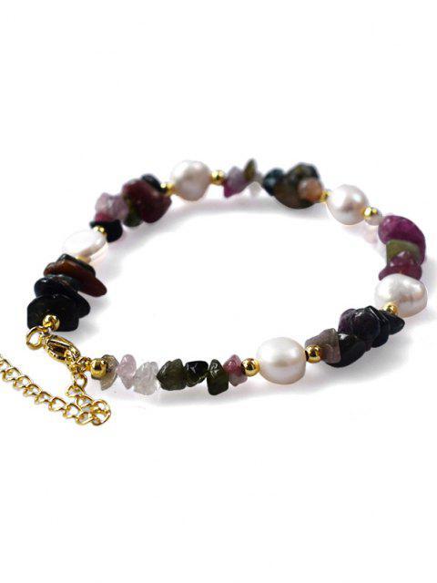 Perlen Unregelmäßige Edelstein Armband - Amethyst  Mobile