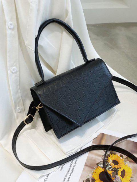 Geometrische Abdeckung Rechteck Handtasche - Schwarz  Mobile