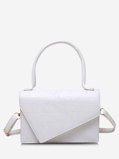 Geometrische Abdeckung Rechteck Handtasche - Milchweiß  Mobile