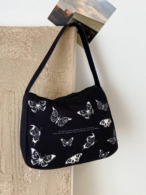 Brief Butterfly Print Tasche - Schwarz  Mobile