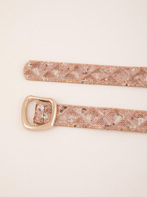 Pailletten Unregelmäßiger Schnallengürtel - Orange Rosa  Mobile
