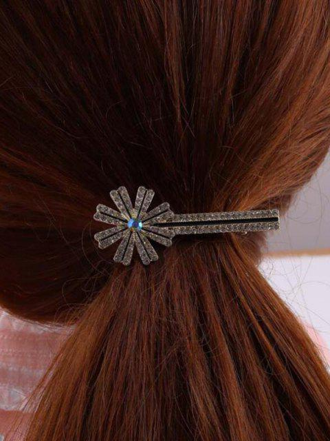 Blumen Metall Strass Haarspange - Golden  Mobile