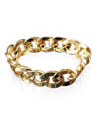 Adjustable Thick Chain Bracelet - Golden