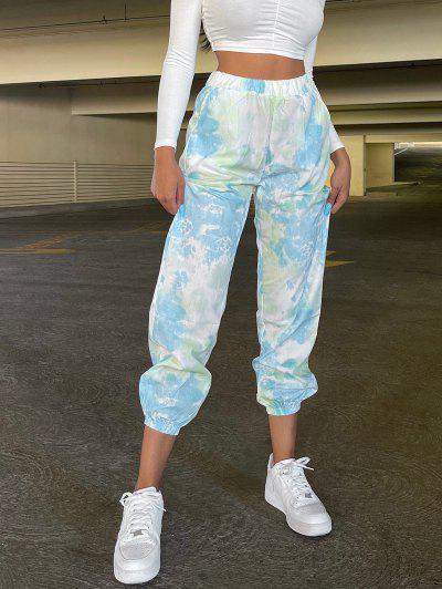 Pantalones De Tie-dye Con Cordón - Multicolor S