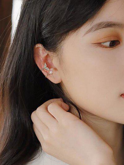 Fischschwanz Künstliche Perle Ohr Manschette - Golden