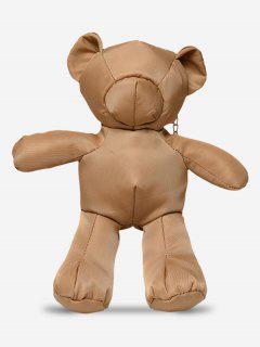 Chain Bear Pattern Crossbody Bag - Brown