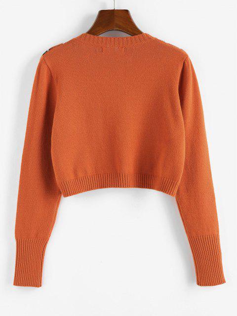 ZAFUL Jersey Corto de Cuello en V - Naranja M Mobile