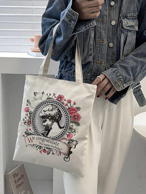 Blumen Art Druck Leinwand Taschen Tasche - Rosa  Mobile