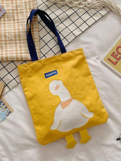 Leinwand Cartoon Entedruck Einkaufstasche - Sonne Gelb  Mobile
