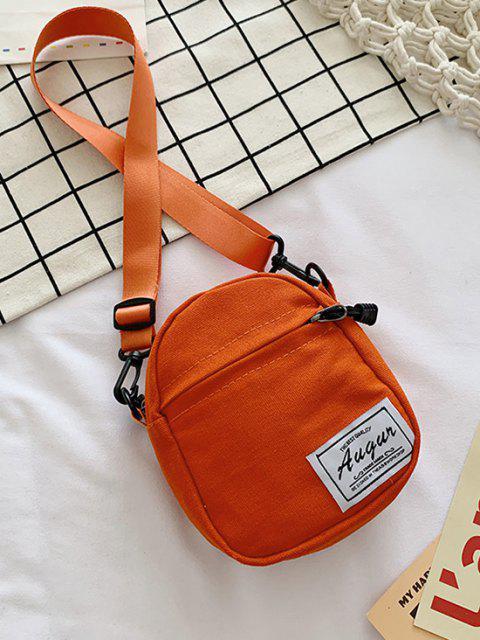 Patch Canvas Mini Umhängetasche - Orange  Mobile