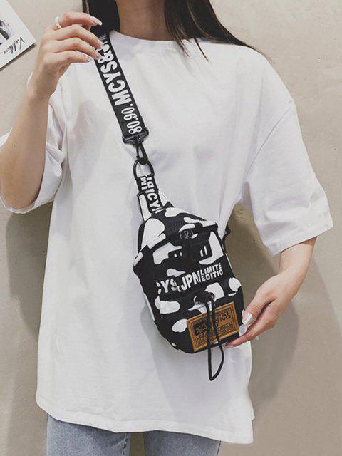 Tierdruck Patch Brusttasche - Schwarz  Mobile