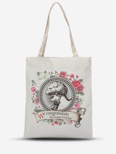 Blumen Art Druck Leinwand Taschen Tasche - Rosa