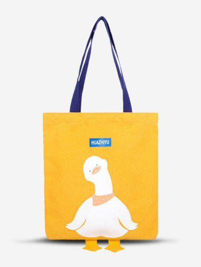 Leinwand Cartoon Entedruck Einkaufstasche - Sonne Gelb