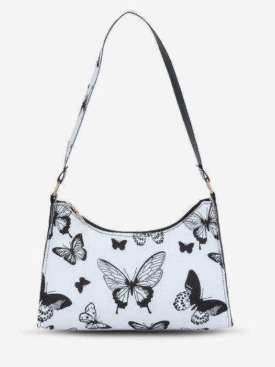 Animal Print Shoulder Bag - Milk White