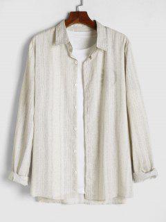 Camisa De Tie-dye Con Estampado De Rayas - Amarillo Claro 2xl