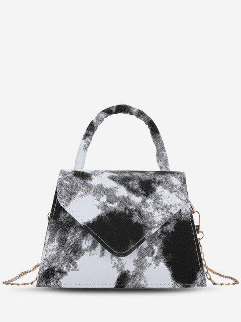 Hüllkurve Krawattenfarbstoff Muster Handtasche - Schwarz  Mobile