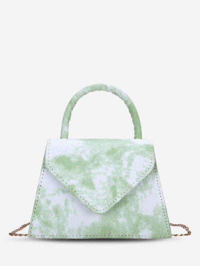 Envelope Tie Dye Pattern Handbag - Light Green