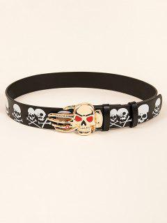 Halloween Skull Hand Buckle Belt - Multi-a