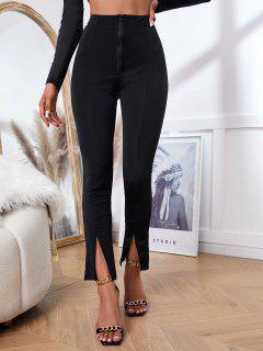 ZAFUL Pantalones Con Abertura Frontal Y Cremallera - Negro S