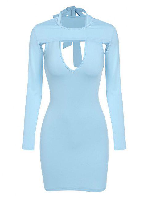 ZAFUL Offenes Neckholder Top und Passen Sie Ihre Verschiedenen Kleider und Verschiedene Stile Set - Helles Blau S Mobile