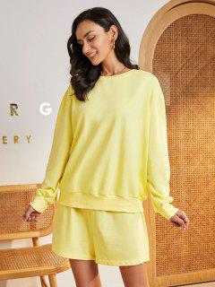 ZAFUL Bright Color Lounge Two Piece Tracksuit - Yellow Xl