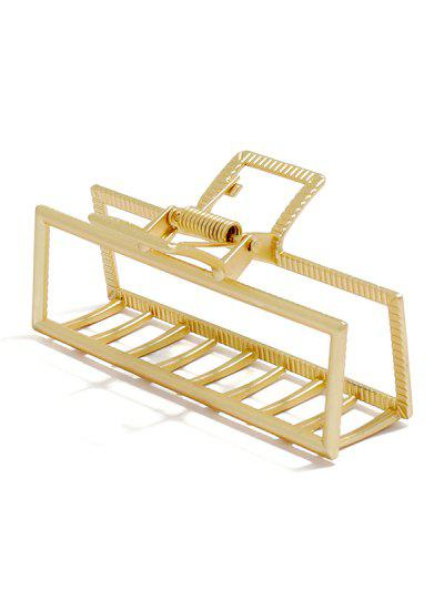 Hollow Rectangular Claw Clip - Golden