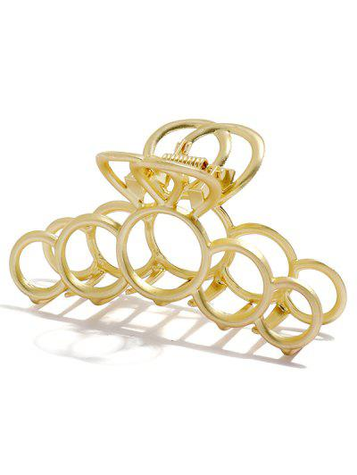 Hollow Out Circles Hair Claw - Golden