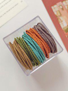 50Pcs Twisted Mix Color Elastic Hair Tie Set - Celeste