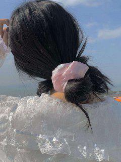 2Pcs Transparent Shining Scrunchie Set - Pink