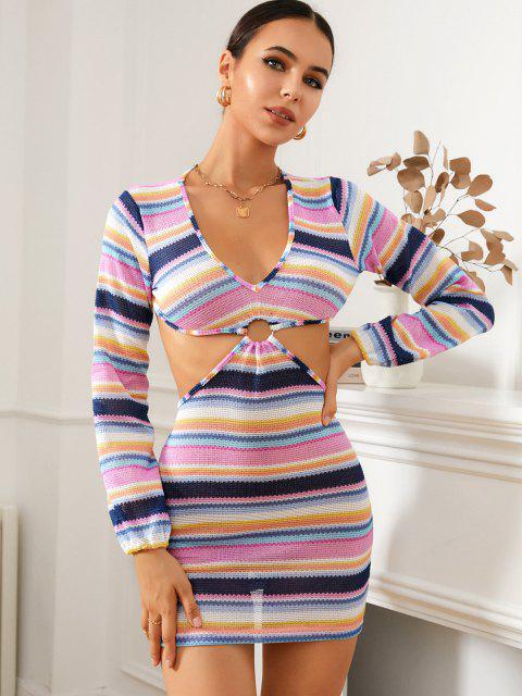 Vestido Rayado de Colores - Multicolor L Mobile