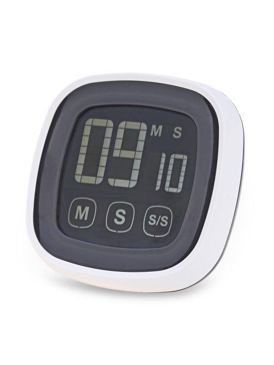 TS - BN54 Touch Screen Küchentimer mit LED-Hintergrundbeleuchtung - Grau & Weiß