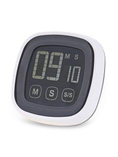 TS - BN54 Temporizador De Cocina De Pantalla Táctil Alarma De Zumbador Con Luz De Fondo De LED - Gris Y Negro