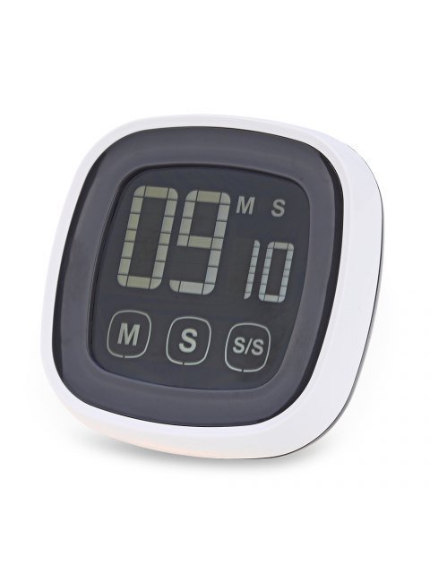 lady TS - BN54 Touch Screen Kitchen Timer Buzzer Alarm with LED Backlight - GREY AND WHITE  Mobile