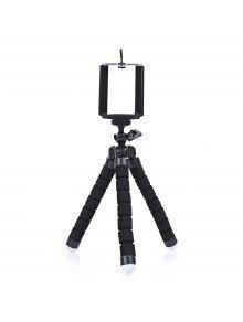 شوت دوران ترايبود سطح المكتب مقبض مثبت للهاتف عمل الكاميرا - أسود