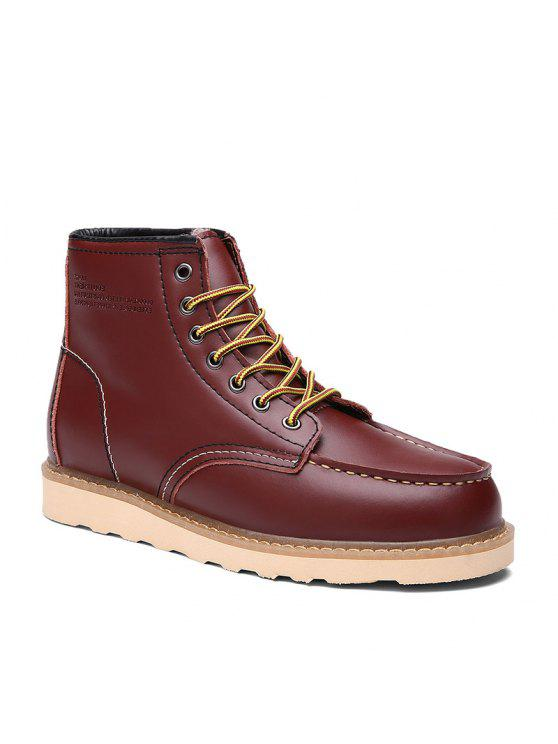 الجديد، مارتن، الرجال، إكتسى بالجليد، إخراج، أحذية الجلد، إلى داخل، أقات أثناء الشتاء - عنابي اللون 44