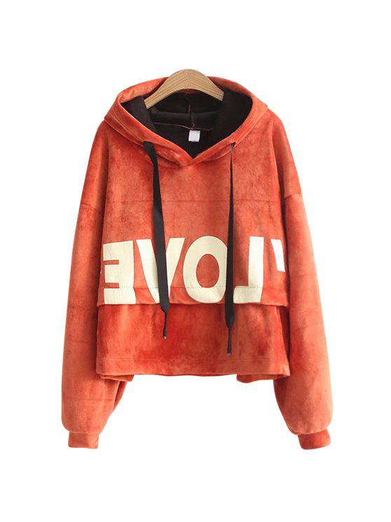 hot New Lady'S Two Sided Velvet Mosaic of The Letter Hoodie - JACINTH ONE SIZE