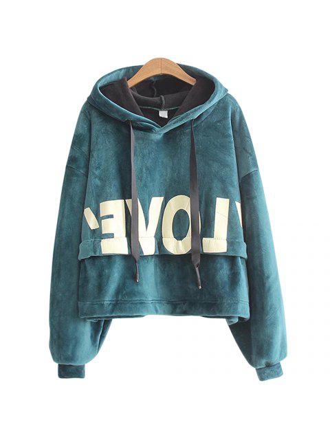 outfit New Lady'S Two Sided Velvet Mosaic of The Letter Hoodie -   Mobile