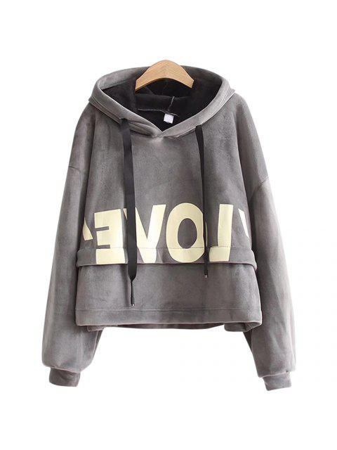 online New Lady'S Two Sided Velvet Mosaic of The Letter Hoodie -   Mobile
