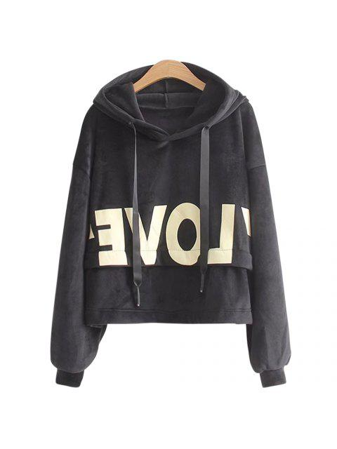 best New Lady'S Two Sided Velvet Mosaic of The Letter Hoodie -   Mobile
