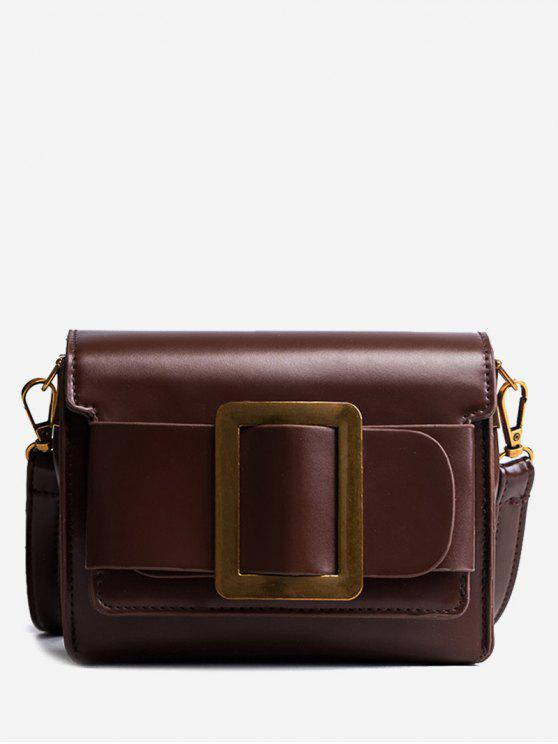 chic Retro Small All-Match Satchel Bag - DEEP BROWN