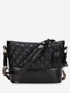 Fragrance Chain Bucket Wandering Handbags - Black