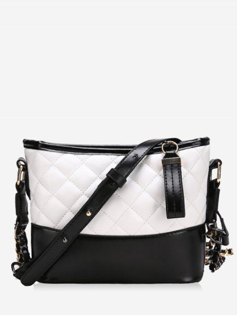 sale Fragrance Chain Bucket Wandering Handbags - WHITE  Mobile