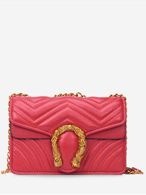 Stitching Flap - Bandolera de metal con solapa - Rojo  Mobile